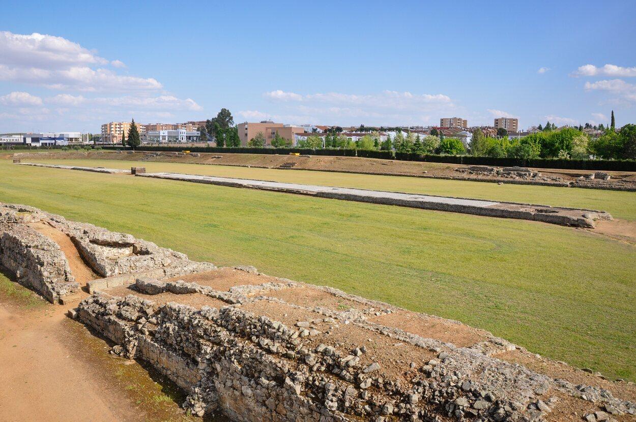 Vistas del circo romano de Mérida