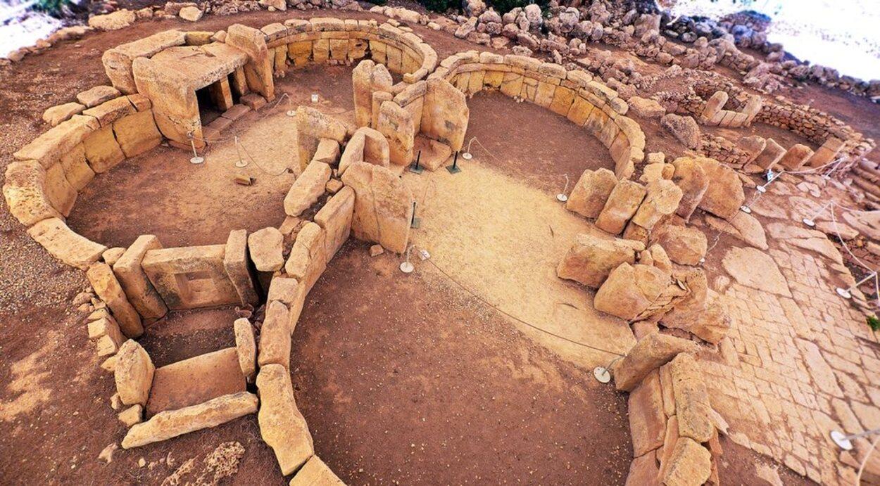 El templo megalítico de Hagar Qim está muy bien conservado