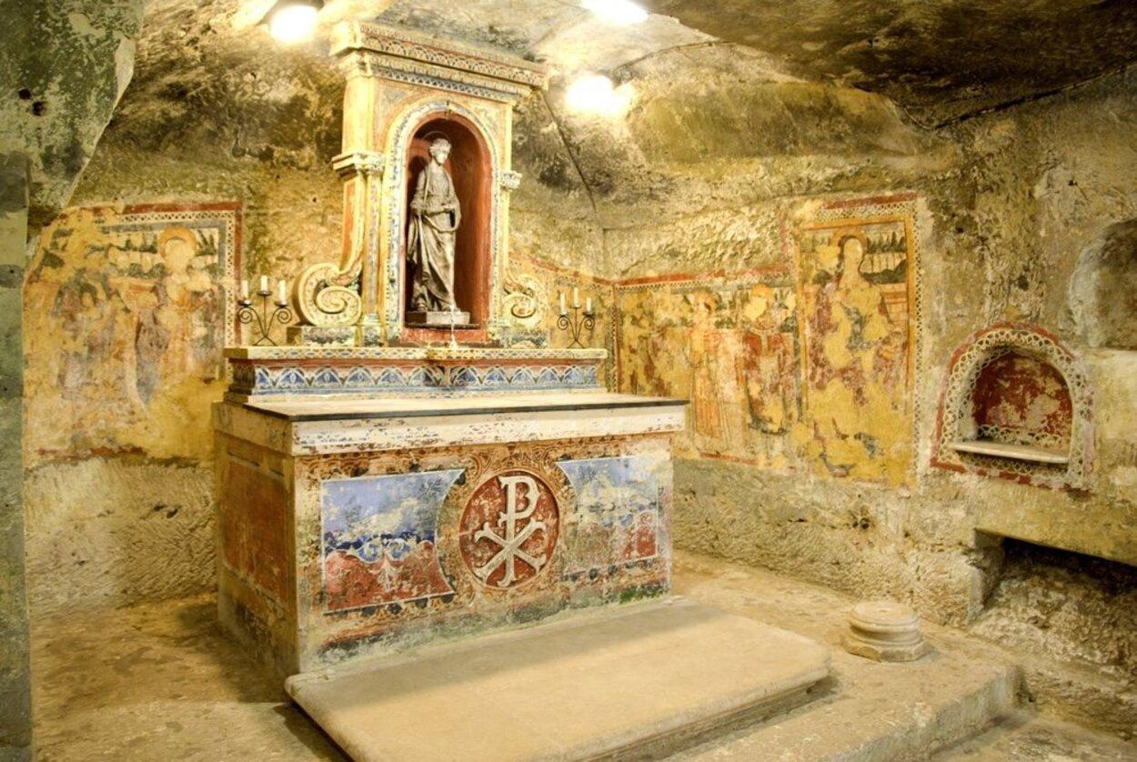 Las Catacumbas de Santa Agatha están llenas de leyendas