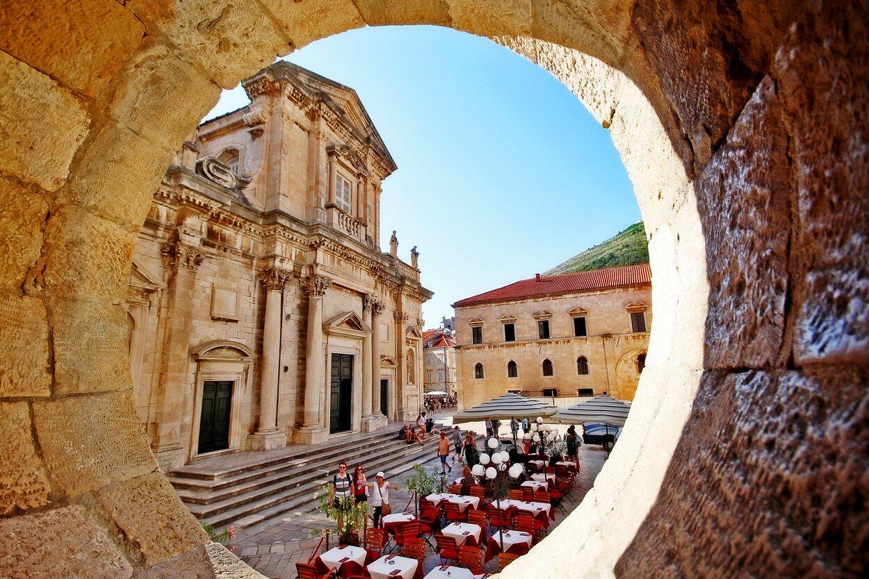 Fachada de la catedral de Dubrovnik