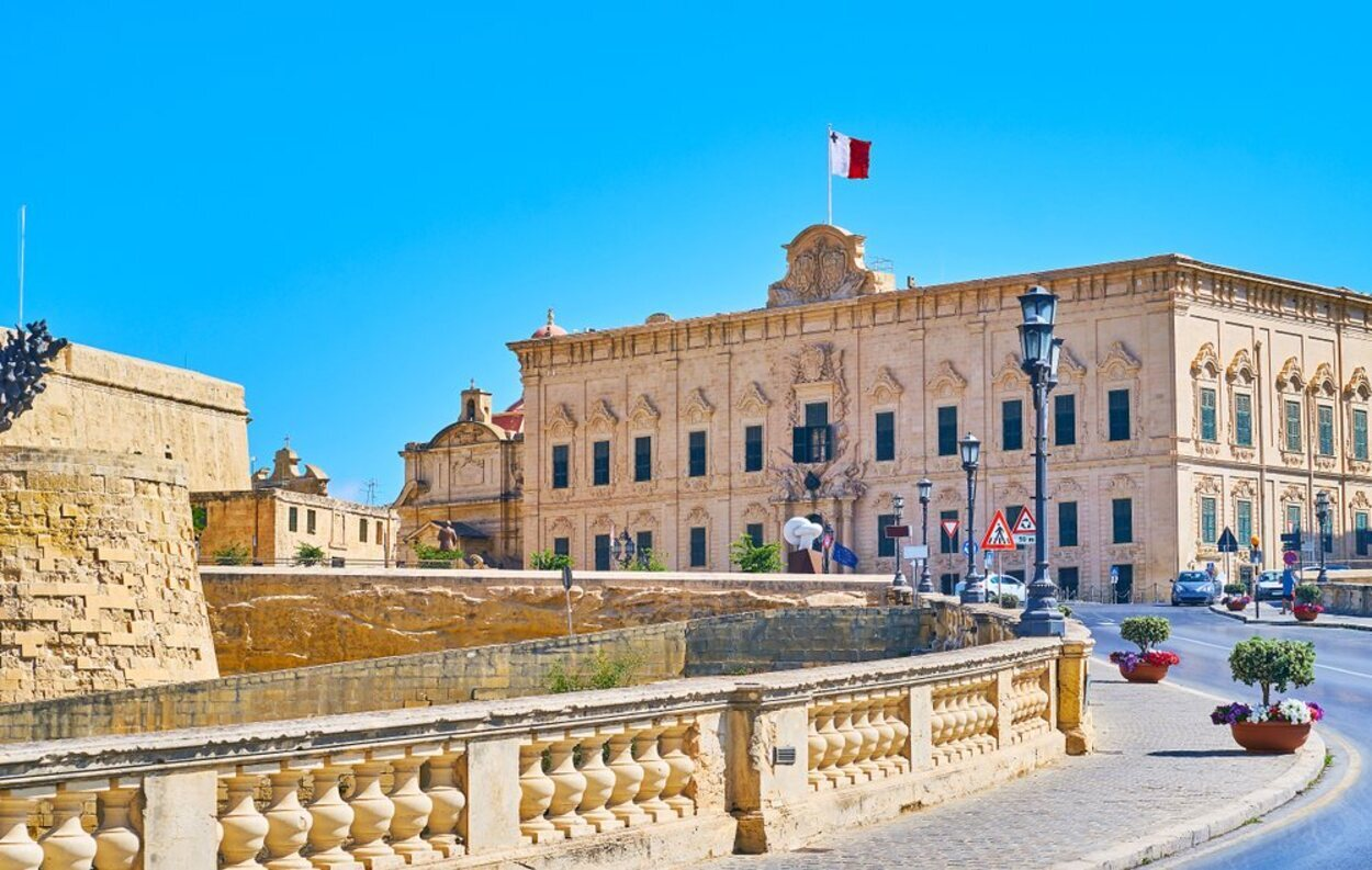El Albergue de Castilla es la residencia del Primer Ministro de Malta
