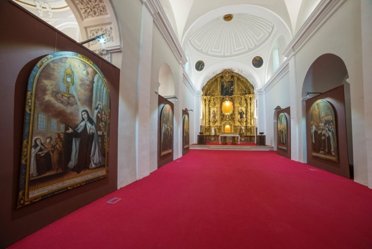 Vista de los pasillos del museo