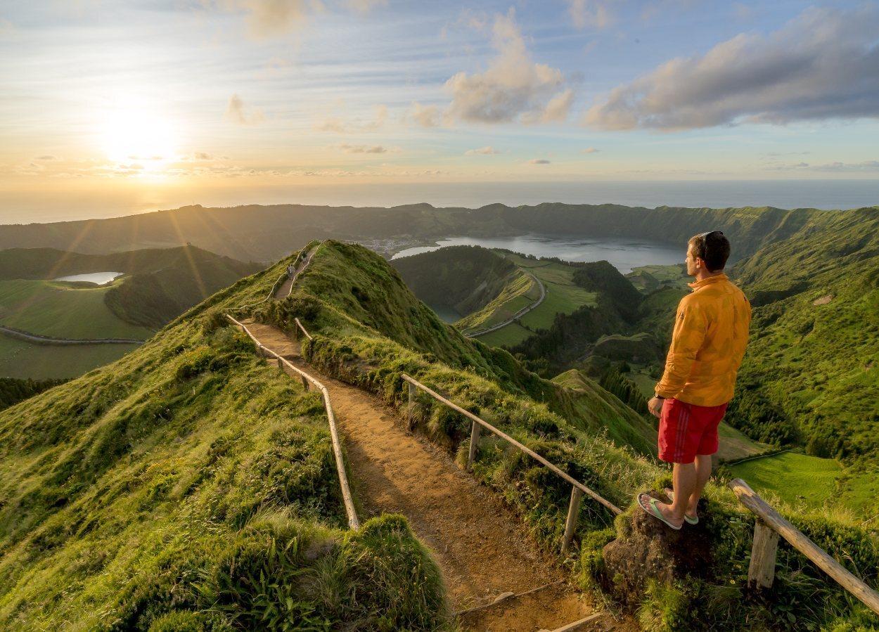 Vistas de Azores desde el Miradouro Grota do Inferno