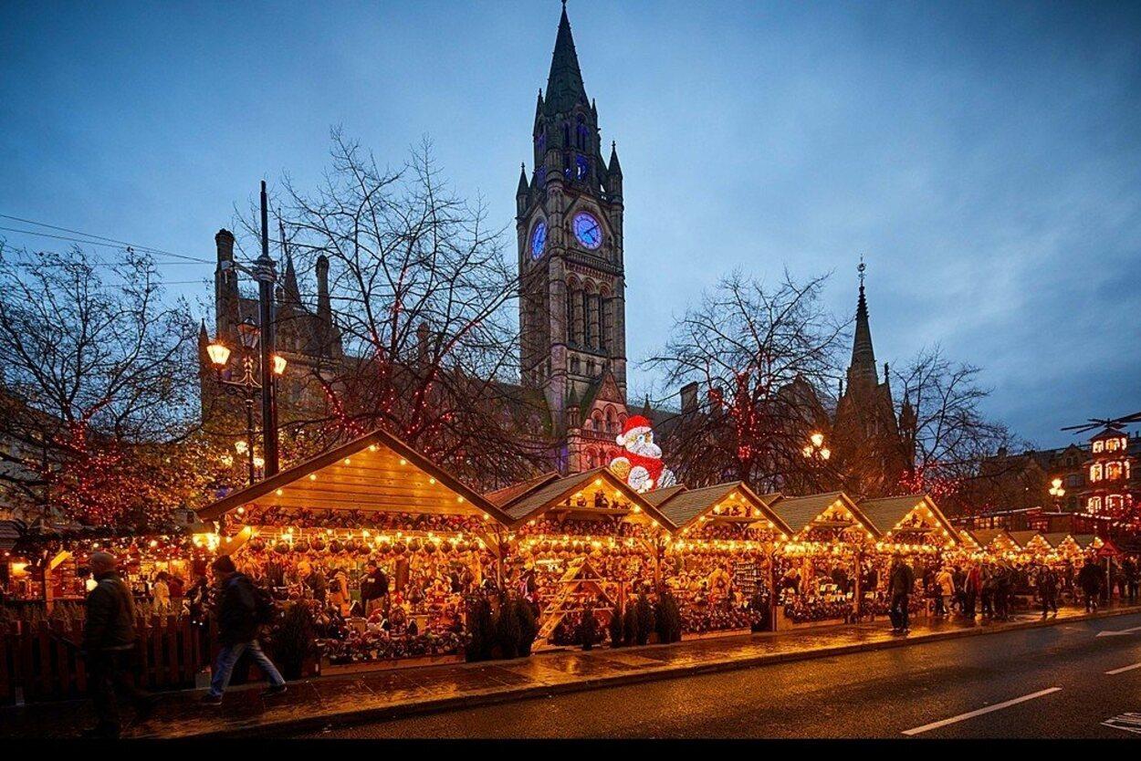 Los mercados navideños de Manchester son de los más conocidos en Reino Unido/ Foto: Visitbritain.com