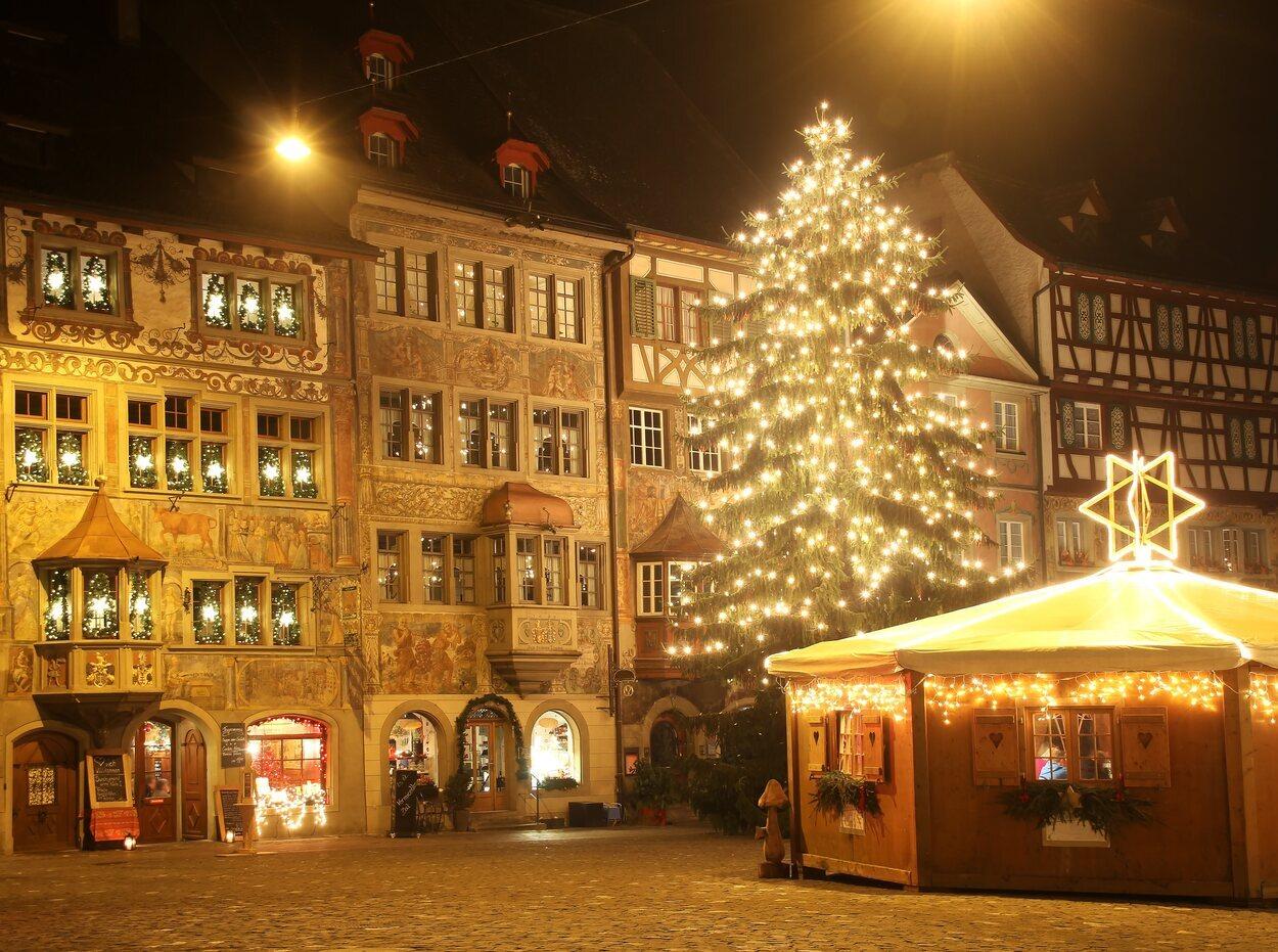 En Suiza hay muchos ciudades especiales para vivir la Navidad