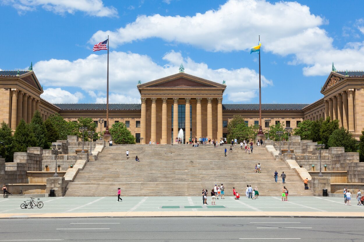 Las escaleras del Museo de Arte son las míticas de la película de Rocky