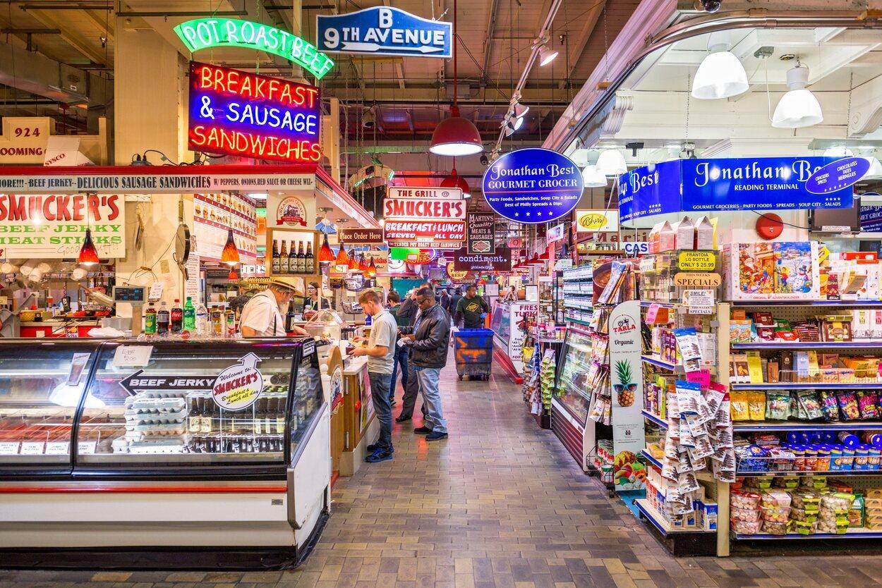 El Reading Terminal Market es una visita curiosa para los amantes del turismo gastronómico