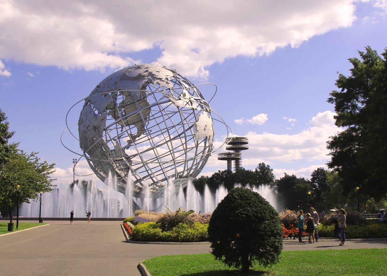 El Unisphere Corona Park representa el avance científico y cultural del siglo XX