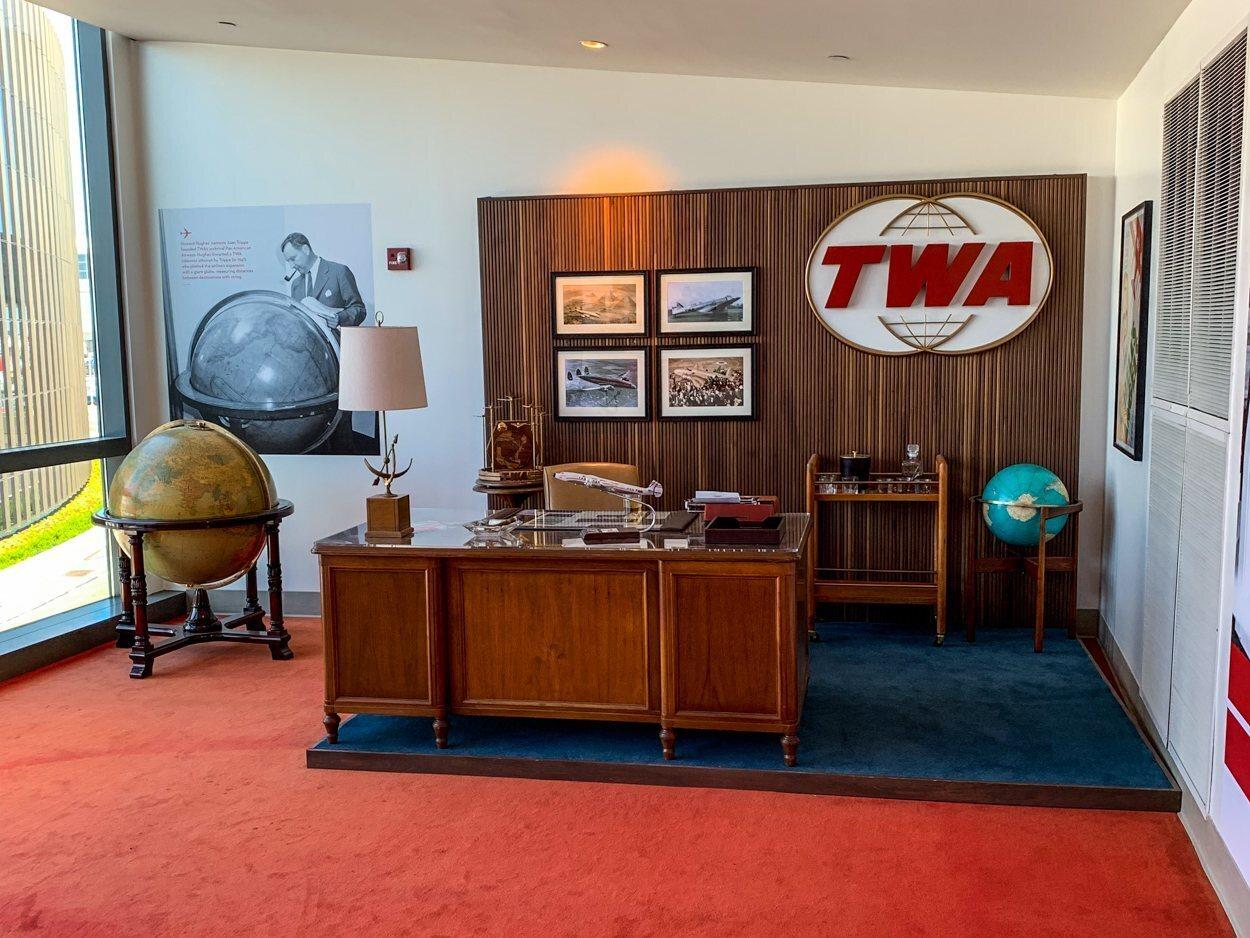 Memorabilia de TWA por casi todas partes