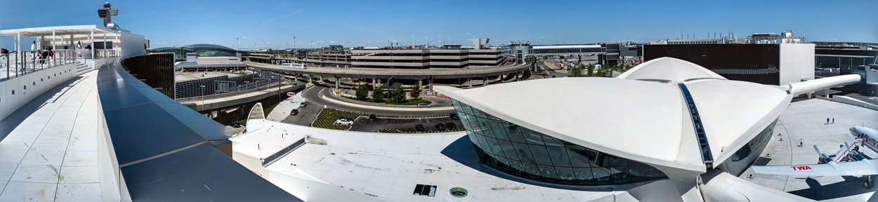 Panorámica del TWA Hotel desde su azotea