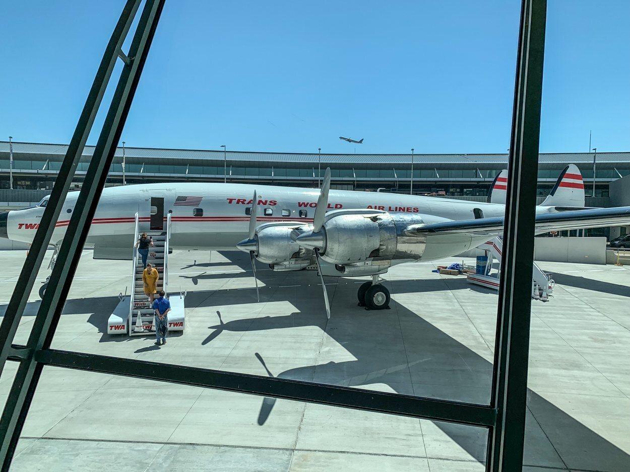 Connie, el avión de TWA reconvertido en bar