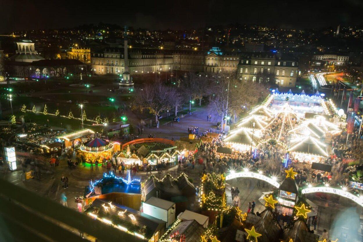 En la ciudad de Stuttgart se puede encontrar un mercado navideño de más de 300 años