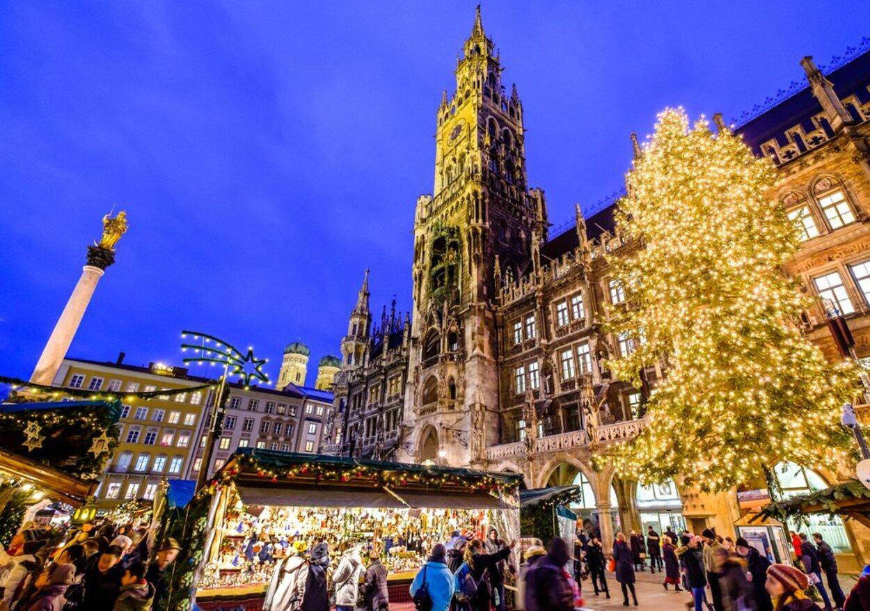 En Munich se puede encontrar el famoso mercado de Navidad Christkindlmarkt