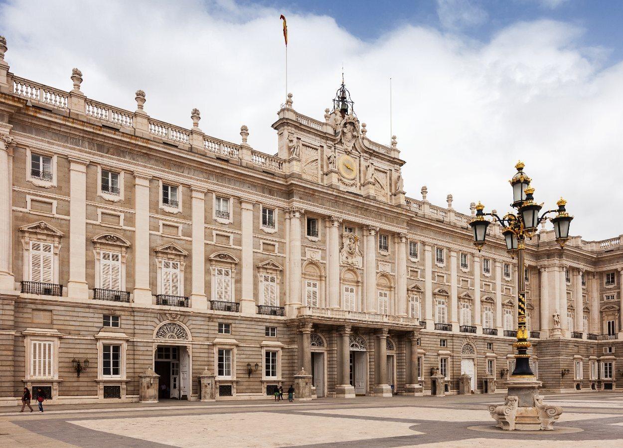 Fachada principal del Palacio Real de Madrid