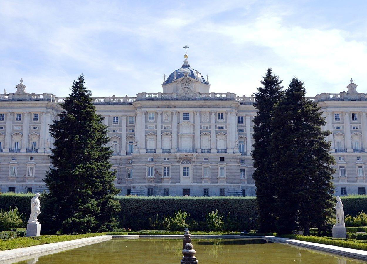 El Palacio Real desde los Jardines de Sabatini