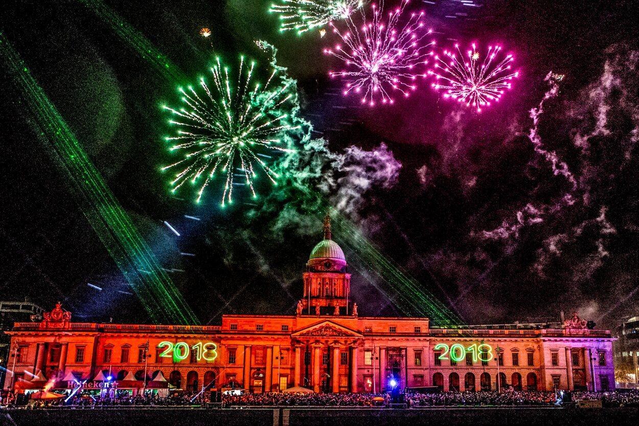 El espectáculo de Nochevieja en Dublín es digno de admirar | Foto: Turismo Irlanda